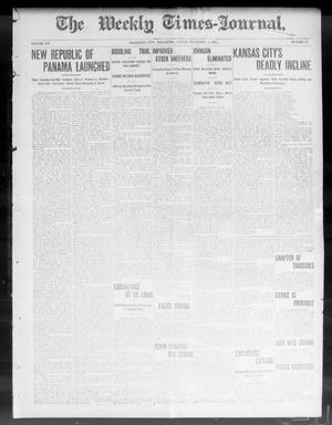 Primary view of object titled 'The Weekly Times-Journal. (Oklahoma City, Okla.), Vol. 15, No. 29, Ed. 1 Friday, November 6, 1903'.