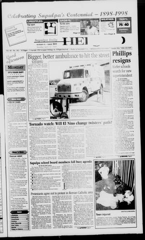 Primary view of Sapulpa Daily Herald (Sapulpa, Okla.), Vol. 89, No. 181, Ed. 1 Monday, April 13, 1998