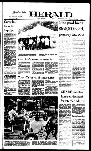 Primary view of Sapulpa Daily Herald (Sapulpa, Okla.), Vol. 69, No. 17, Ed. 1 Sunday, October 3, 1982