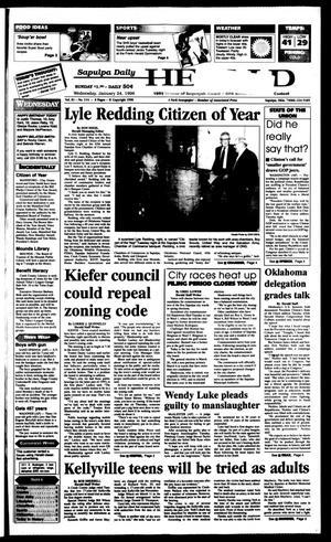 Primary view of Sapulpa Daily Herald (Sapulpa, Okla.), Vol. 82, No. 114, Ed. 1 Wednesday, January 24, 1996