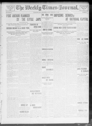 Primary view of object titled 'The Weekly Times-Journal. (Oklahoma City, Okla.), Vol. 15, No. 44, Ed. 1 Friday, February 19, 1904'.