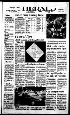 Primary view of Sapulpa Daily Herald (Sapulpa, Okla.), Vol. 78, No. 258, Ed. 1 Sunday, July 12, 1992