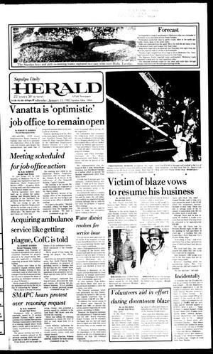 Primary view of Sapulpa Daily Herald (Sapulpa, Okla.), Vol. 68, No. 103, Ed. 1 Wednesday, January 13, 1982