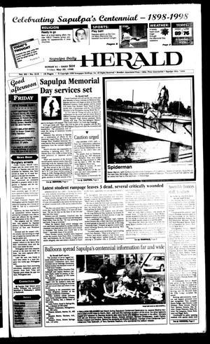 Primary view of Sapulpa Daily Herald (Sapulpa, Okla.), Vol. 83, No. 215, Ed. 1 Friday, May 22, 1998