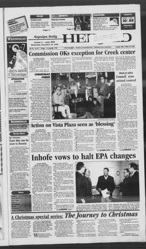 Primary view of Sapulpa Daily Herald (Sapulpa, Okla.), Vol. 82, No. 82, Ed. 1 Wednesday, December 18, 1996