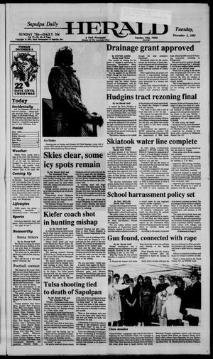 Primary view of Sapulpa Daily Herald (Sapulpa, Okla.), Vol. 78, No. 69, Ed. 1 Tuesday, December 3, 1991