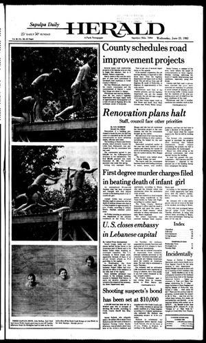 Primary view of Sapulpa Daily Herald (Sapulpa, Okla.), Vol. 68, No. 241, Ed. 1 Wednesday, June 23, 1982