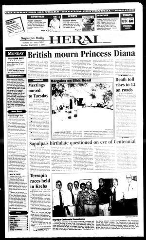 Primary view of Sapulpa Daily Herald (Sapulpa, Okla.), Vol. 82, No. 300, Ed. 1 Monday, September 1, 1997