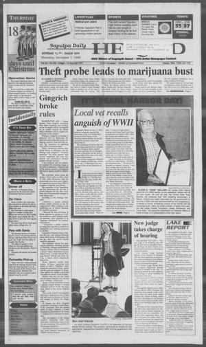 Primary view of Sapulpa Daily Herald (Sapulpa, Okla.), Vol. 82, No. 73, Ed. 1 Thursday, December 7, 1995
