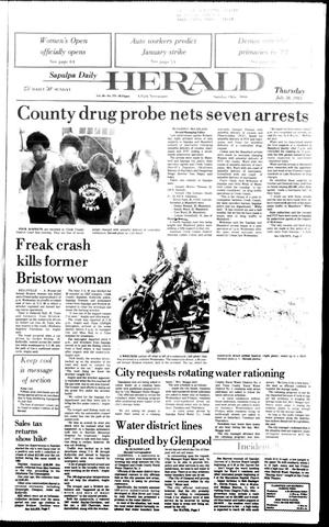 Primary view of Sapulpa Daily Herald (Sapulpa, Okla.), Vol. 69, No. 272, Ed. 1 Thursday, July 28, 1983
