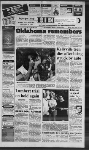 Primary view of Sapulpa Daily Herald (Sapulpa, Okla.), Vol. 81, No. 189, Ed. 1 Friday, April 19, 1996