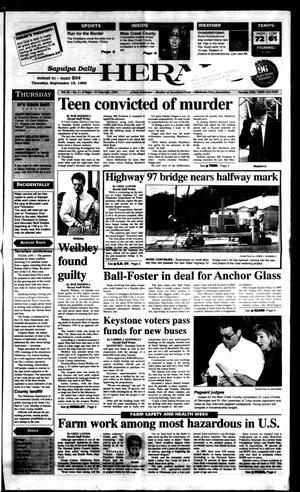 Primary view of Sapulpa Daily Herald (Sapulpa, Okla.), Vol. 82, No. 5, Ed. 1 Thursday, September 19, 1996