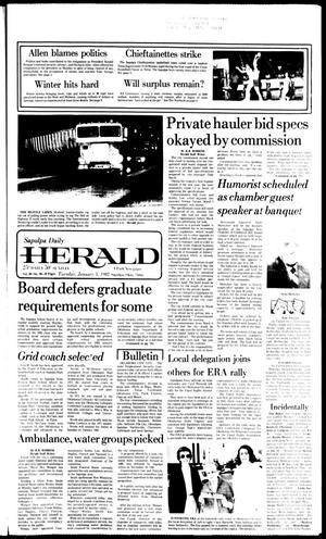 Primary view of Sapulpa Daily Herald (Sapulpa, Okla.), Vol. 68, No. 96, Ed. 1 Tuesday, January 5, 1982