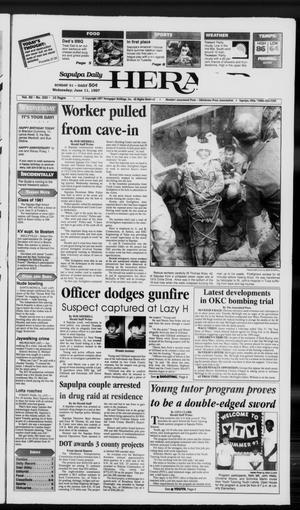 Primary view of Sapulpa Daily Herald (Sapulpa, Okla.), Vol. 82, No. 230, Ed. 1 Wednesday, June 11, 1997