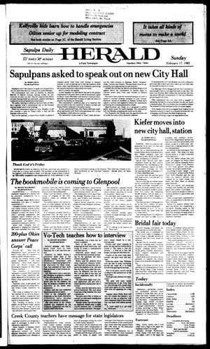 Primary view of Sapulpa Daily Herald (Sapulpa, Okla.), Vol. 71, No. 133, Ed. 1 Sunday, February 17, 1985