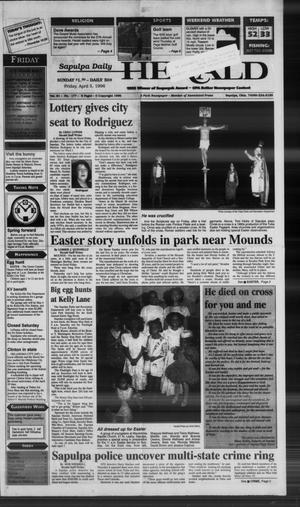 Primary view of Sapulpa Daily Herald (Sapulpa, Okla.), Vol. 81, No. 177, Ed. 1 Friday, April 5, 1996