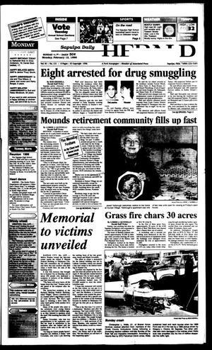 Primary view of Sapulpa Daily Herald (Sapulpa, Okla.), Vol. 82, No. 130, Ed. 1 Monday, February 12, 1996