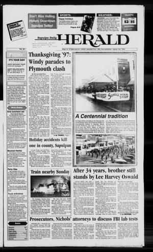 Primary view of Sapulpa Daily Herald (Sapulpa, Okla.), Vol. 83, No. 65, Ed. 1 Friday, November 28, 1997
