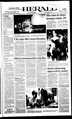 Primary view of object titled 'Sapulpa Daily Herald (Sapulpa, Okla.), Vol. 78, No. 111, Ed. 1 Wednesday, January 22, 1992'.