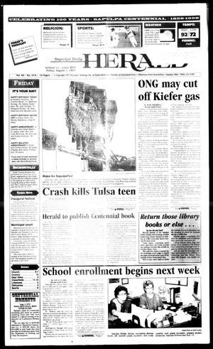 Primary view of Sapulpa Daily Herald (Sapulpa, Okla.), Vol. 82, No. 274, Ed. 1 Friday, August 1, 1997
