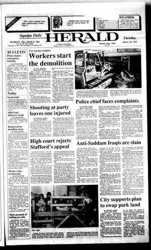 Primary view of Sapulpa Daily Herald (Sapulpa, Okla.), Vol. 77, No. 159, Ed. 1 Tuesday, March 19, 1991