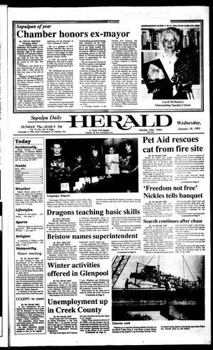 Primary view of Sapulpa Daily Herald (Sapulpa, Okla.), Vol. 78, No. 101, Ed. 1 Friday, January 10, 1992