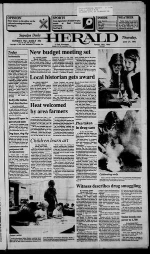 Primary view of Sapulpa Daily Herald (Sapulpa, Okla.), Vol. 77, No. 245, Ed. 1 Thursday, June 27, 1991