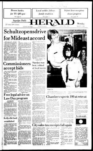 Primary view of Sapulpa Daily Herald (Sapulpa, Okla.), Vol. 69, No. 192, Ed. 1 Monday, April 25, 1983