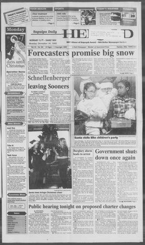 Primary view of Sapulpa Daily Herald (Sapulpa, Okla.), Vol. 82, No. 82, Ed. 1 Monday, December 18, 1995