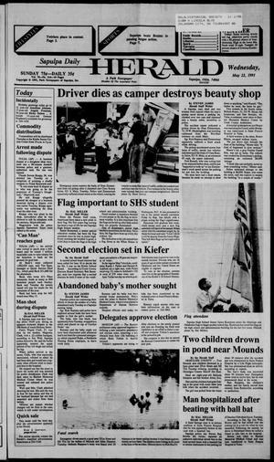 Primary view of Sapulpa Daily Herald (Sapulpa, Okla.), Vol. 77, No. 214, Ed. 1 Wednesday, May 22, 1991
