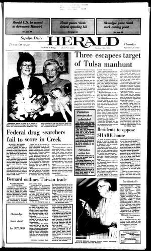 Primary view of Sapulpa Daily Herald (Sapulpa, Okla.), Vol. 70, No. 14, Ed. 1 Thursday, September 29, 1983