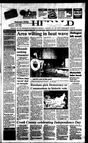 Primary view of Sapulpa Daily Herald (Sapulpa, Okla.), Vol. 81, No. 253, Ed. 1 Wednesday, July 3, 1996