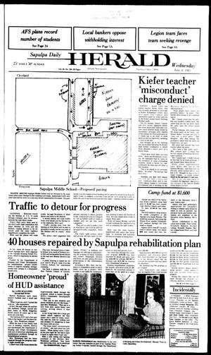 Primary view of Sapulpa Daily Herald (Sapulpa, Okla.), Vol. 69, No. 230, Ed. 1 Wednesday, June 8, 1983