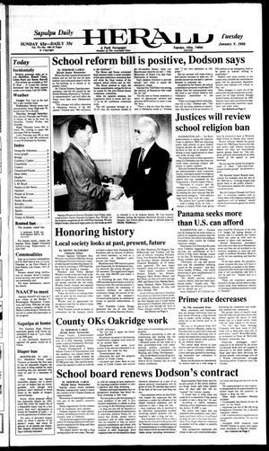 Primary view of Sapulpa Daily Herald (Sapulpa, Okla.), Vol. 76, No. 100, Ed. 1 Tuesday, January 9, 1990