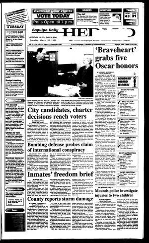 Primary view of Sapulpa Daily Herald (Sapulpa, Okla.), Vol. 82, No. 167, Ed. 1 Tuesday, March 26, 1996