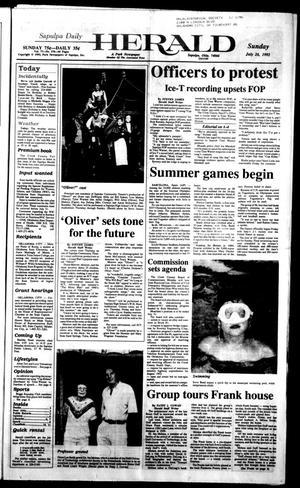 Primary view of Sapulpa Daily Herald (Sapulpa, Okla.), Vol. 78, No. 270, Ed. 1 Sunday, July 26, 1992