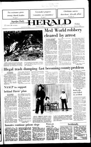 Primary view of Sapulpa Daily Herald (Sapulpa, Okla.), Vol. 69, No. 184, Ed. 1 Friday, April 15, 1983