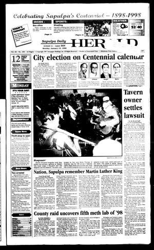 Primary view of Sapulpa Daily Herald (Sapulpa, Okla.), Vol. 83, No. 108, Ed. 1 Monday, January 19, 1998