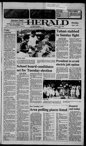 Primary view of Sapulpa Daily Herald (Sapulpa, Okla.), Vol. 77, No. 200, Ed. 1 Monday, May 6, 1991