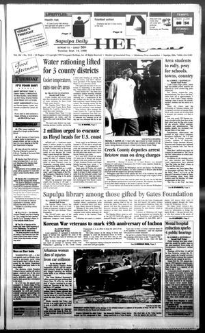 Primary view of Sapulpa Daily Herald (Sapulpa, Okla.), Vol. 84, No. 312, Ed. 1 Tuesday, September 14, 1999