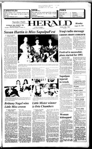 Primary view of Sapulpa Daily Herald (Sapulpa, Okla.), Vol. 76, No. 291, Ed. 1 Monday, August 20, 1990