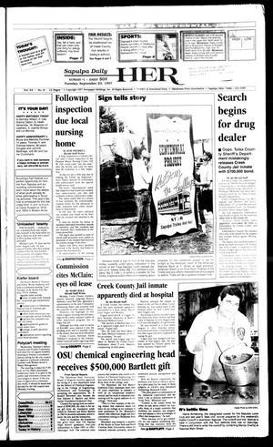 Primary view of Sapulpa Daily Herald (Sapulpa, Okla.), Vol. 83, No. 8, Ed. 1 Tuesday, September 23, 1997