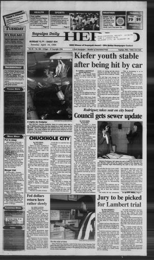 Primary view of Sapulpa Daily Herald (Sapulpa, Okla.), Vol. 81, No. 186, Ed. 1 Tuesday, April 16, 1996