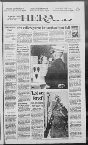 Primary view of Sapulpa Daily Herald (Sapulpa, Okla.), Vol. 84, No. 51, Ed. 1 Friday, November 12, 1999