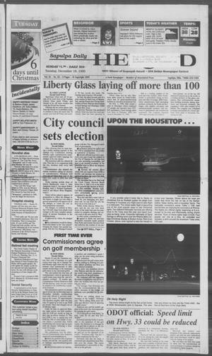 Primary view of Sapulpa Daily Herald (Sapulpa, Okla.), Vol. 82, No. 83, Ed. 1 Tuesday, December 19, 1995