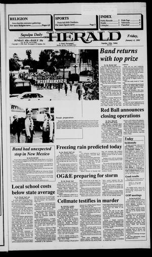 Primary view of Sapulpa Daily Herald (Sapulpa, Okla.), Vol. 77, No. 96, Ed. 1 Friday, January 4, 1991
