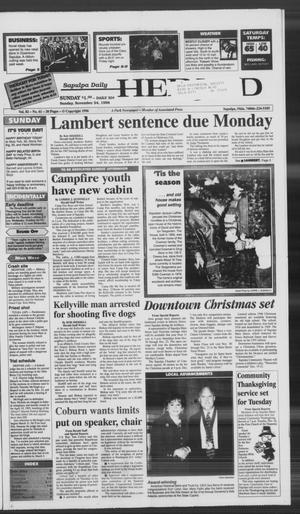 Primary view of Sapulpa Daily Herald (Sapulpa, Okla.), Vol. 82, No. 61, Ed. 1 Sunday, November 24, 1996