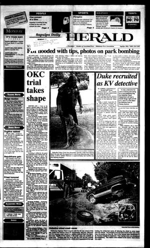 Primary view of Sapulpa Daily Herald (Sapulpa, Okla.), Vol. 81, No. 275, Ed. 1 Monday, July 29, 1996
