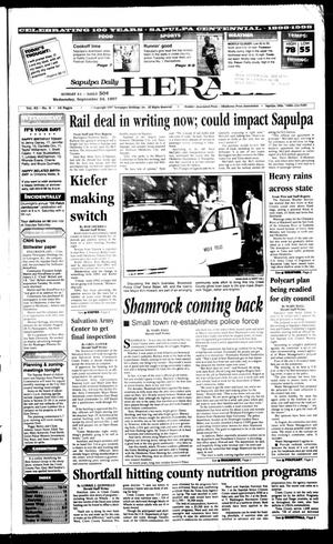 Primary view of Sapulpa Daily Herald (Sapulpa, Okla.), Vol. 83, No. 9, Ed. 1 Wednesday, September 24, 1997