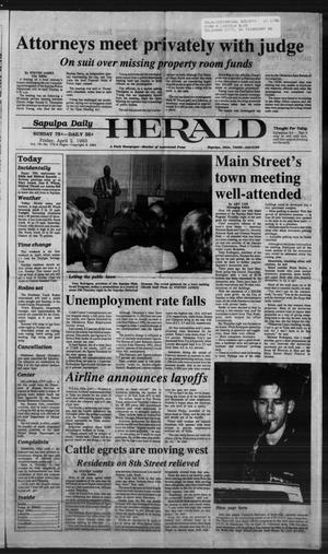 Primary view of Sapulpa Daily Herald (Sapulpa, Okla.), Vol. 79, No. 172, Ed. 1 Friday, April 2, 1993